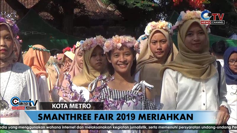 Smanthree Fair 2019 meriahkan HUT Ke-24 SMA N 3 Kota Metro