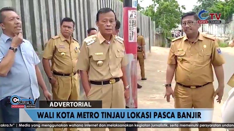 Wali Kota Metro Tinjau Lokasi Pasca Banjir