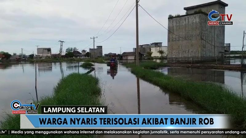 warga banjar agung nyaris terisolasi akibat banjir